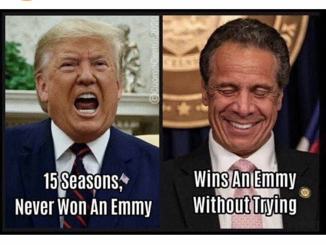 Sorry not sorry. The pettiness makes this funny.   #CuomoEmmy  #TrumpVirus  #TrumpIsALaughingStock