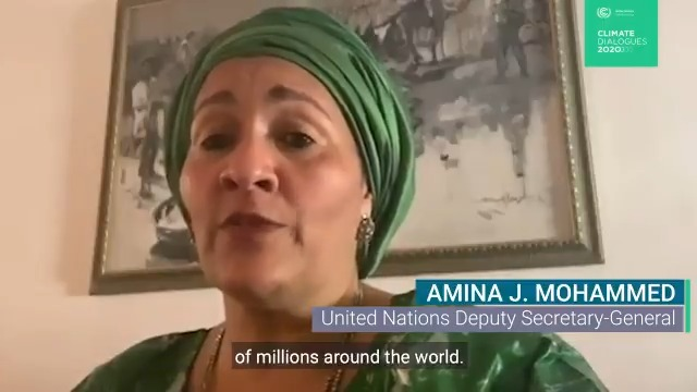 """""""The stakes could not be higher, as the science shows that temperatures are in record-breaking territory"""" - @UN Deputy Secretary-General @AminaJMohammed at the start of the UNFCCC #ClimateDialogues. Main conference page:"""