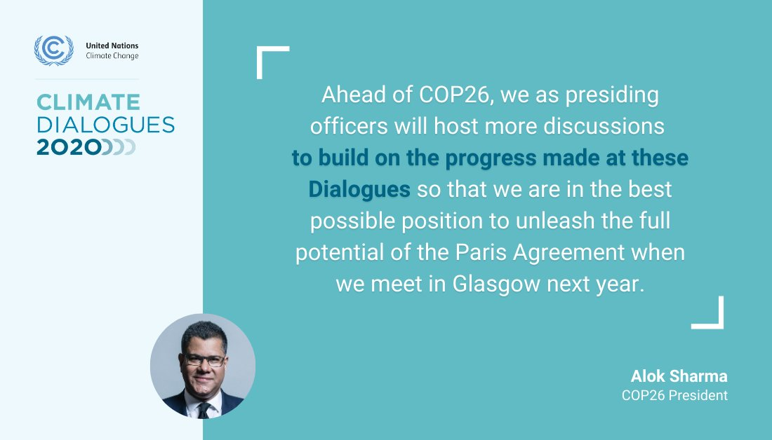 #COP26 President @AlokSharma_RDG at the opening of the UNFCCC #ClimateDialogues (23 November to 4 December) on the urgent need to keep driving climate action and ambition ahead of next year's @UN Climate Change Conference in Glasgow.