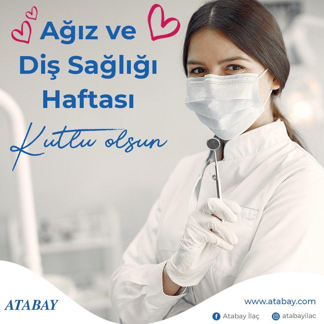 Unutmayın!  Ağız ve diş sağlığı tüm vücudumuza pozitif etki eder.  Diş hekimlerimizin Diş Hekimleri Günü'nü ve tüm ağız ve diş sağlığı çalışanlarının Ağız ve Diş Sağlığı Haftası'nı kutluyoruz.  #dişsağlığı #dişhekimi #ağızvedişsağlığı #ağızbakımı #dişbakımı #sağlık #sağlıklıyaşam https://t.co/JFcbJOc7mx