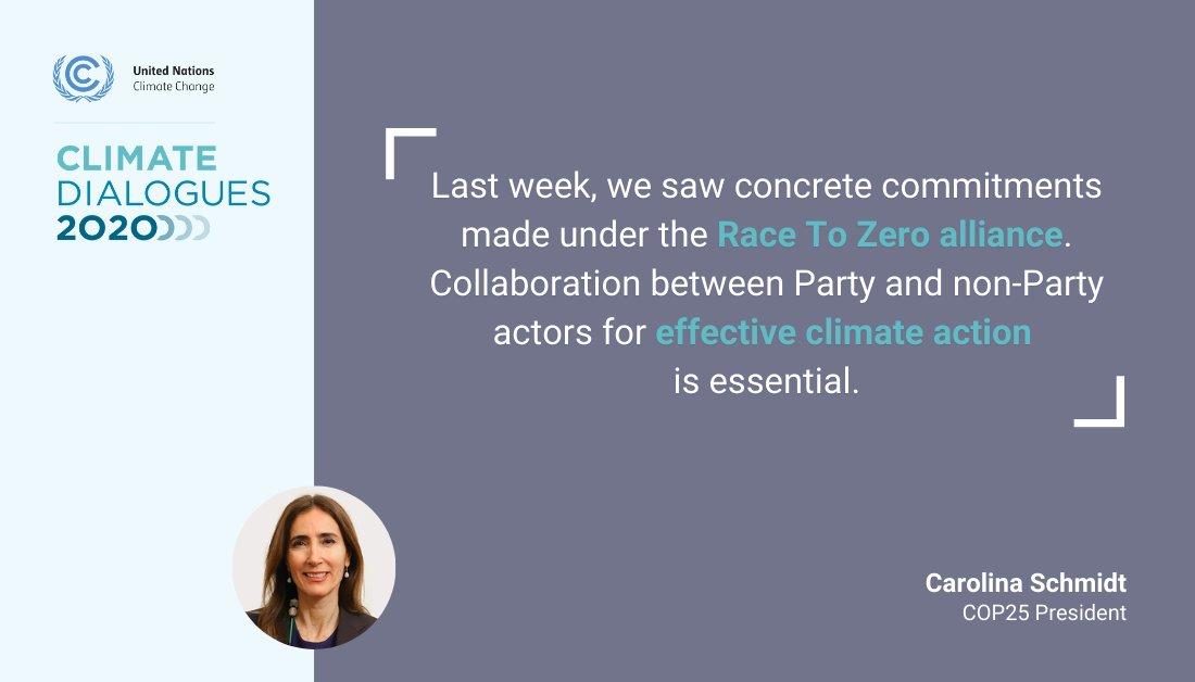 #COP25 President @CarolaSchmidtZ on the #RaceToZero Dialogues which preceded the UNFCCC #ClimateDialogues 👇🏾
