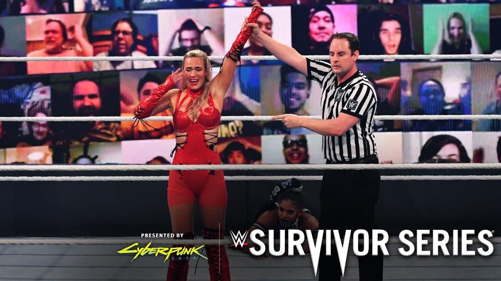 Can't keep her down!  @LanaWWE stunned as the sole survivor for #TeamRaw at #SurvivorSeries!   https://t.co/XDI3sDgqPn https://t.co/IwHM6Lq4eK
