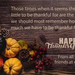 Image for the Tweet beginning: Happy Thanksgiving to all our