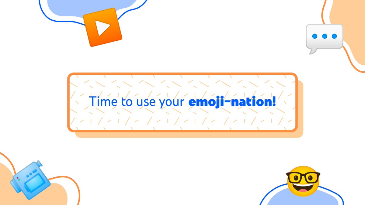 Describe what your channel is about through emojis.