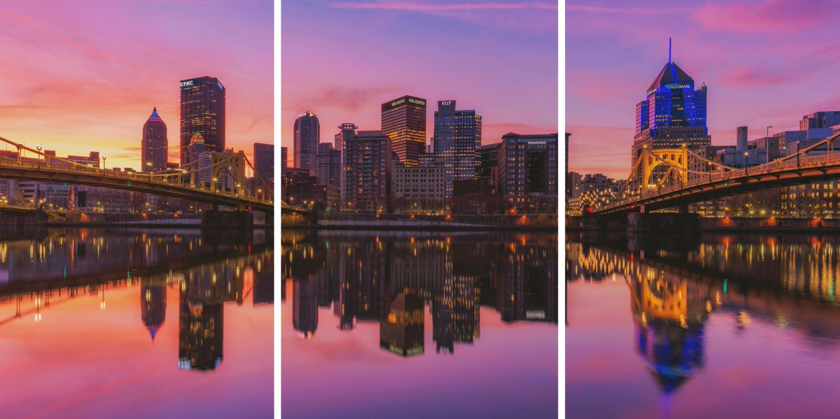 I'm also legally obligated to tell you that this would make a pretty darn good triptych, with the bridges and city perfectly broken out.