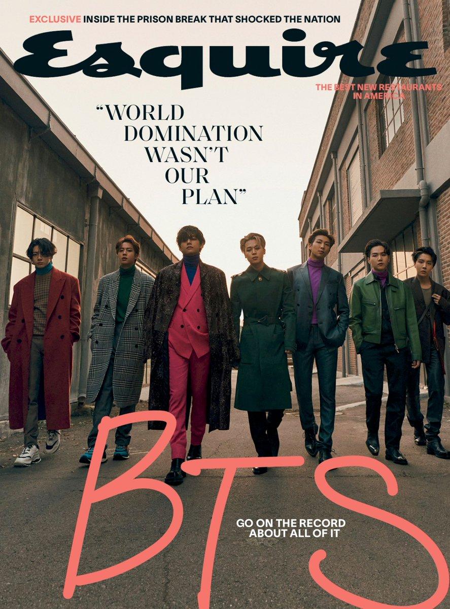 فرقة BTS تتصدر غلاف مجلة Esquire.