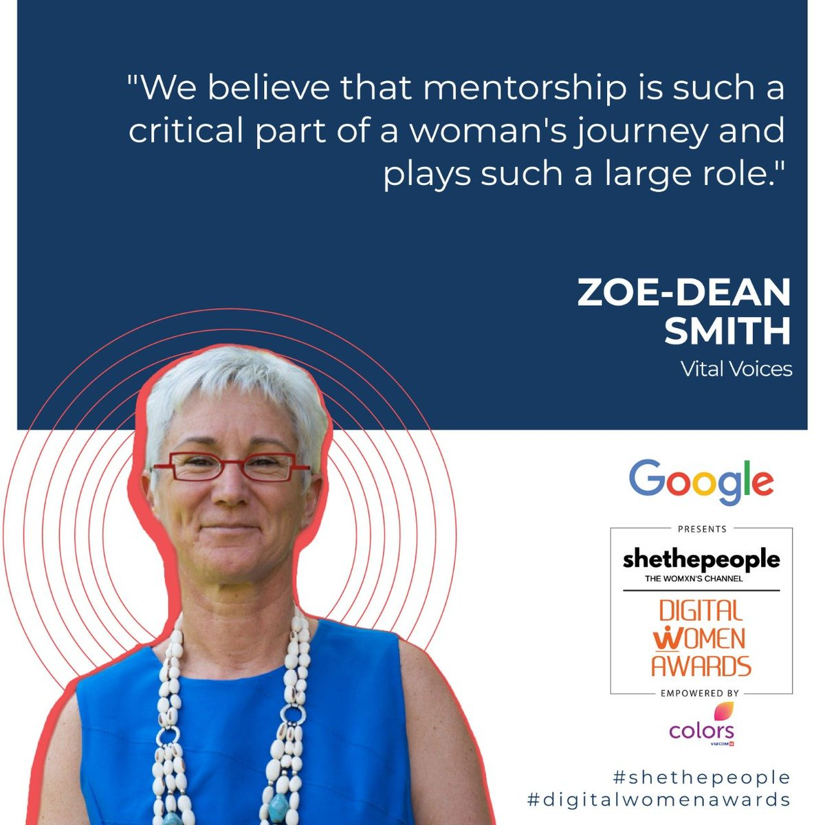 @ZoeDeanSmith at #DigitalWomenAwards talked about the role of mentorship in empowering women