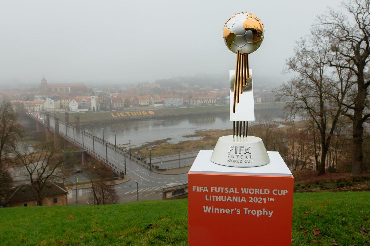 🏆🇱🇹😍  The #FutsalWC trophy is in Kaunas ahead of next year's global showpiece