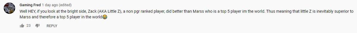 Little Z - The logic checks out, I'm better than @Marss_NE