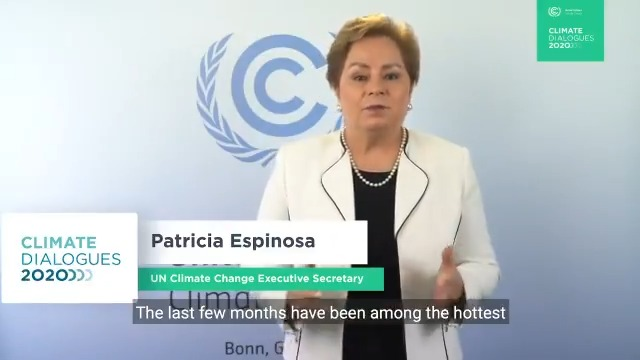 """""""While a vaccine may yet help us emerge from COVID-19, there is no vaccine for the global climate emergency"""" - @PEspinosaC at the opening of the UNFCCC #ClimateDialogues (23 Nov to 4 Dec) today. Main conference page, with access to virtual participation:"""