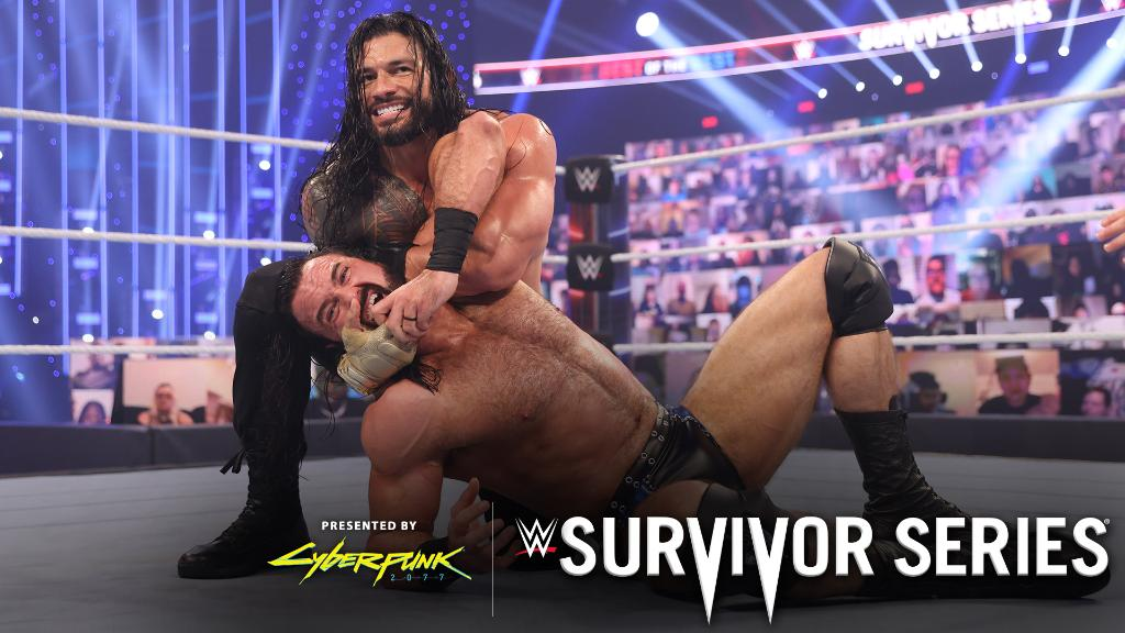 In a titanic clash of champions, #UniversalChampion @WWERomanReigns stood tall over #WWEChampion @DMcIntyreWWE at #SurvivorSeries.   https://t.co/h8HmjB9BP4 https://t.co/WBb6bC0rXG