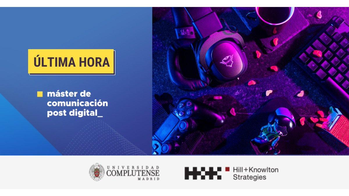👏 Hoy los alumnos de @MastComDigital disfrutaremos de una divertida e interactiva clase sobre videojuegos y esports en @HK_Spain, con SantiagoSemprún, Ejecutivo de Cuentas #Tendencias #comunicación #FelizLunes  ¡Estamos preparados! https://t.co/uYZBmNZQqA