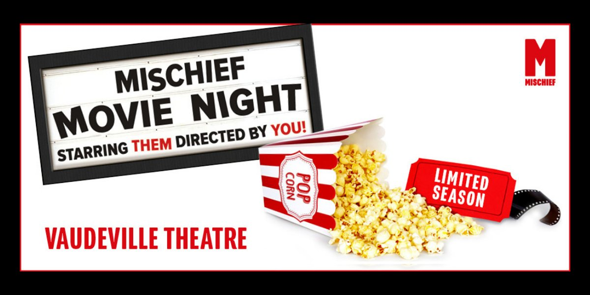 🎟️  @mischiefcomedyare returning to their comedy roots this festive season with Mischief Movie Night, the improvised movie live on stage! Grab your tickets now 👉