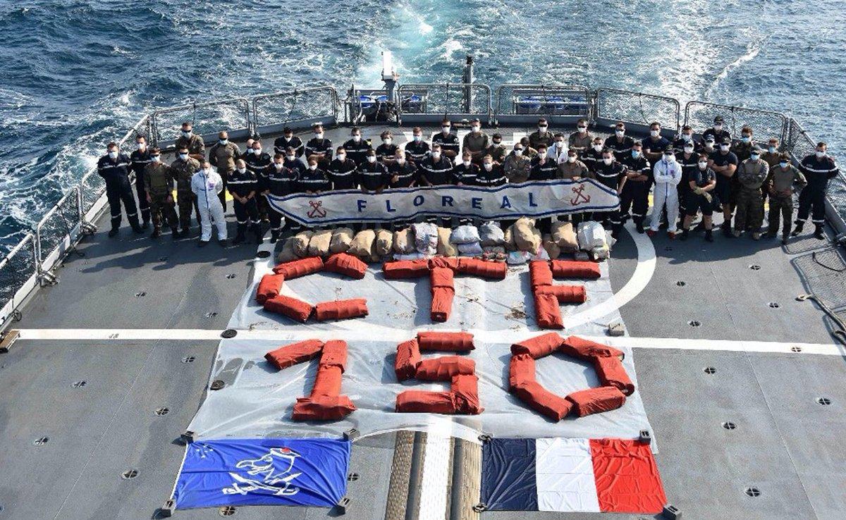 وزارة الدفاع:  القوة المختلطة ١٥٠ والتي تتولى قيادتها القوات البحرية السعودية تتمكن من ضبط كميات ضخمة من المخدرات.  -