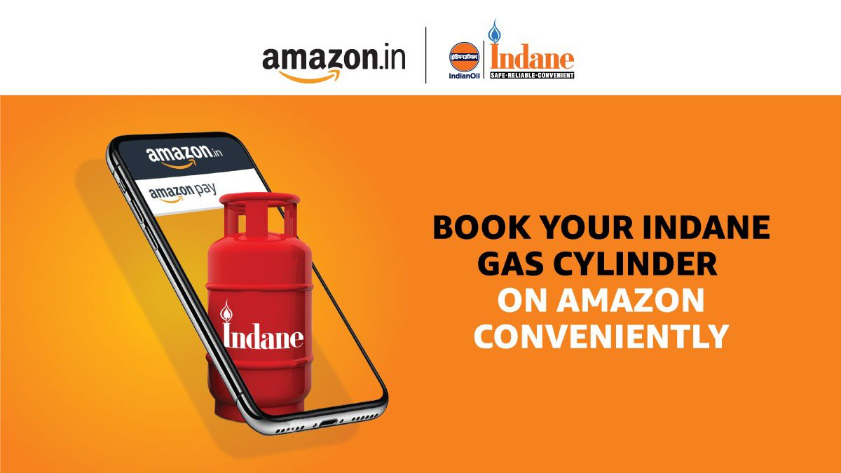 Now book your gas cylinder in simple steps on Amazon. Try now.  @IndianOilcl #AmazonPay