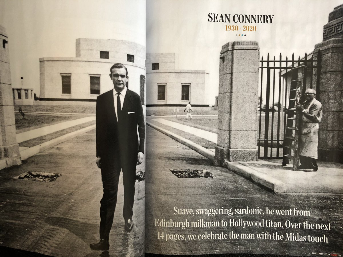 @empiremagazine goes to town with a #SeanConnery special this month. A real treat. #JamesBond