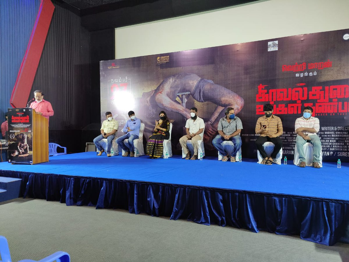 Team of KUN meets the press ahead of the release this Friday.  Excellent response from the press preview earlier today.  #KUNPressMeet @Dhananjayang
