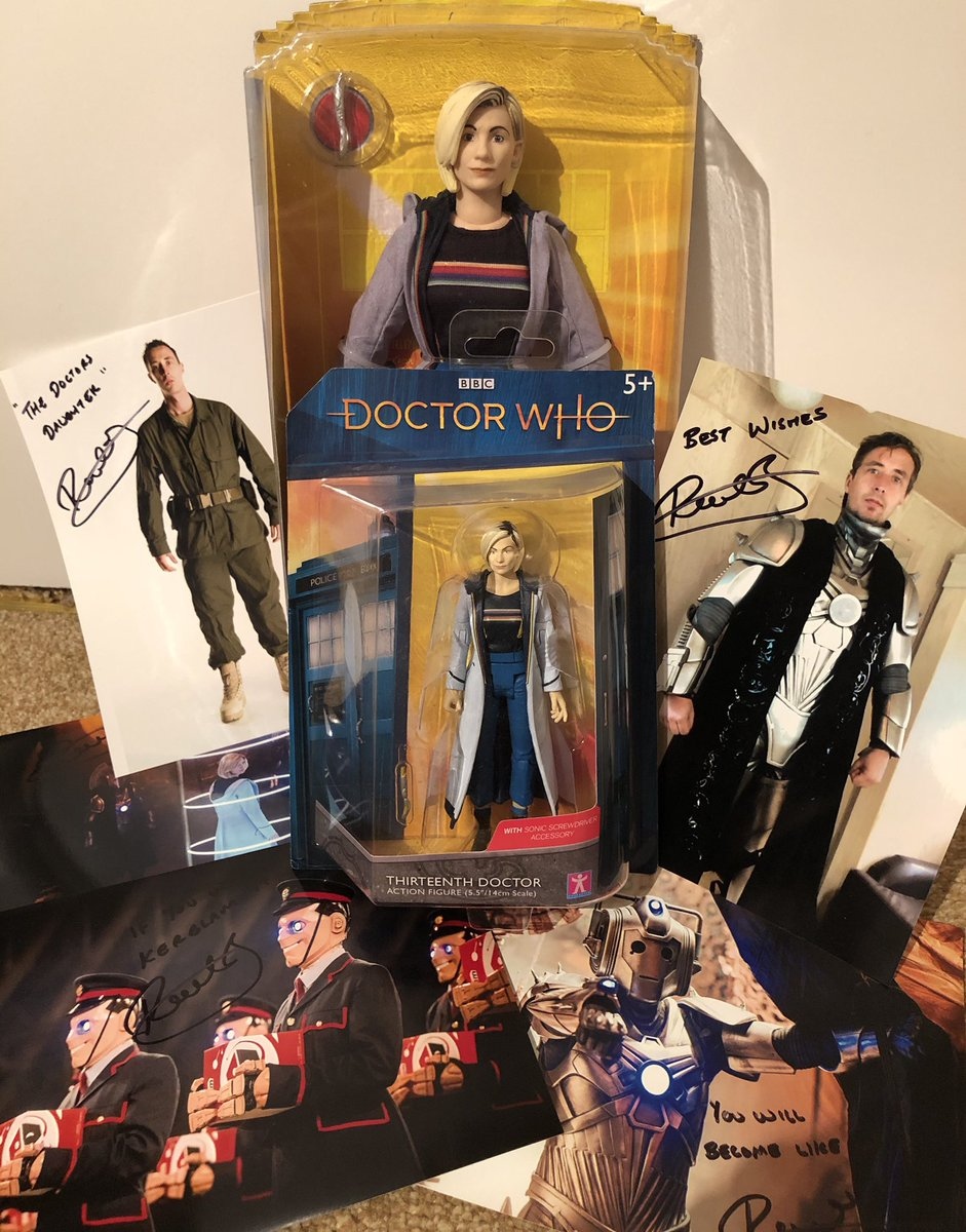 I couldn't let #DoctorWhoDay pass without one of my little competitions! So to be in with a chance to Win the 13th Doctor figures and these signed photos from me, just make sure you are #followingme and #retweet the post to enter. #DoctorWho #TheTimelessChildren  #whoviansau