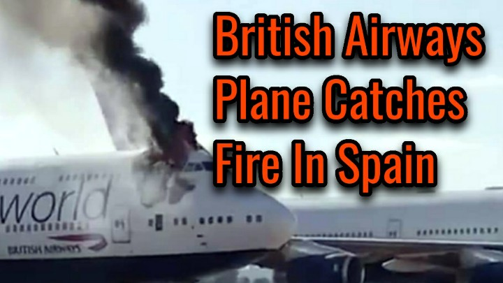 Breaking: A British Airways Plane Has Catches Fire At Castellón Airport in Spain.  Watch the Video👉   #BritishAirways #Spain #Breaking #Castellón #Airways #Airport #G-CIVD #MondayMood #MondayMorning #MondayVibes #Nivar #mondaythoughts