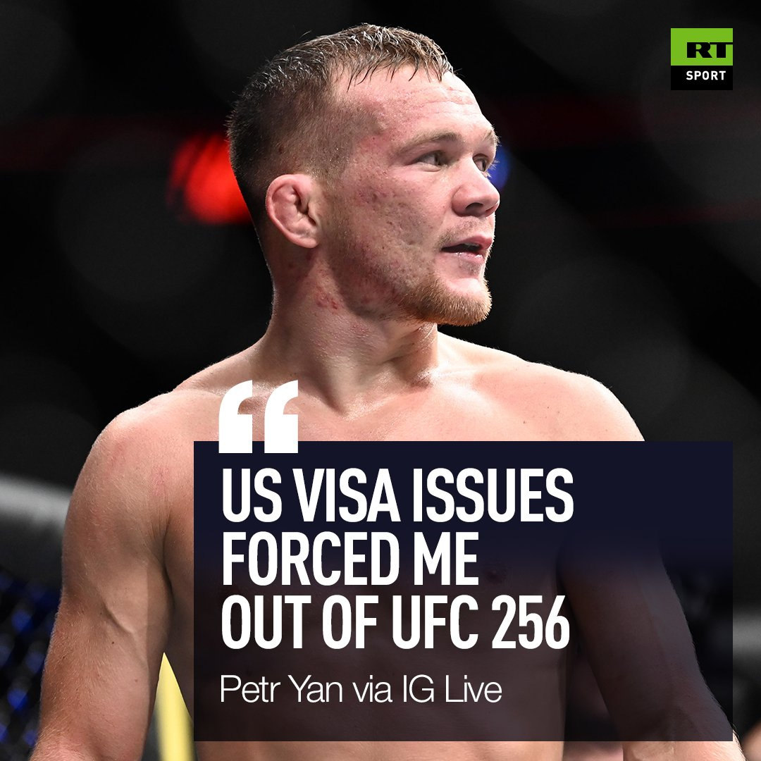 🛂 Petr Yan reveals why his clash with Aljamain Sterling has been postponed  @PetrYanUFC | @funkmasterMMA | #UFC256 https://t.co/2c4jmClc3k