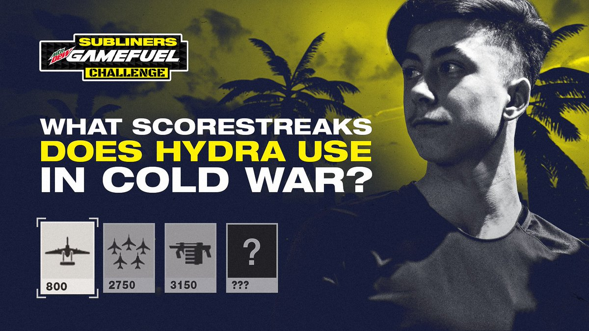 New York Subliners - What scorestreaks do you think @HyDrAnml is running in Cold War? Answer right to win this week's @GameFuel challenge! 👊