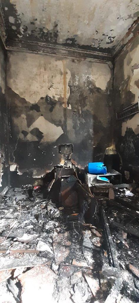 test Twitter Media - Así lucen las instalaciones del Congreso luego que encapuchados le prendieran fuego este sábado a una de las áreas del edificio central.Fotos: José Castro https://t.co/ANi8BMKPjs