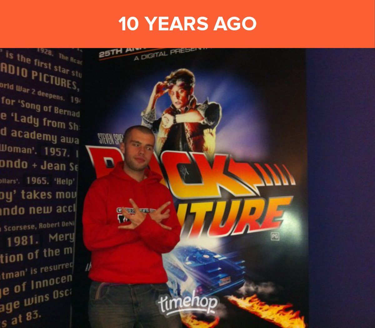 That time I got to see Back To The Future in the cinema for it's 25th anniversary. Holy shit, that means it's 35 years old now! 🎟🎬 #timehop #throwback #backtothefuture #bttf #delorean #martymcfly #docbrown #classic