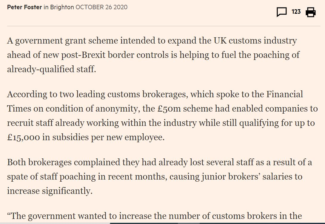 @CommonsPAC @RHARichardB @LogisticsUKNews The truth is, everyone is extrapolating, but we do know that a) customs intermediary salaries are rising b) poaching is rampant and that that market is very tight. (see my report here) /7 ft.com/content/4ad4a0…