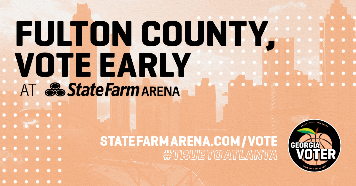 State Farm Arena is an official early voting location for all registered voters of Fulton County for the Jan. 5th Runoff Election.   In partnership w/ @MBStadium, we will host early voting Dec. 14-19 before moving to MBS Dec. 22-30 (closed 24 & 25).  🔗https://t.co/OaG5kJFqMT https://t.co/w89EJVm8qs