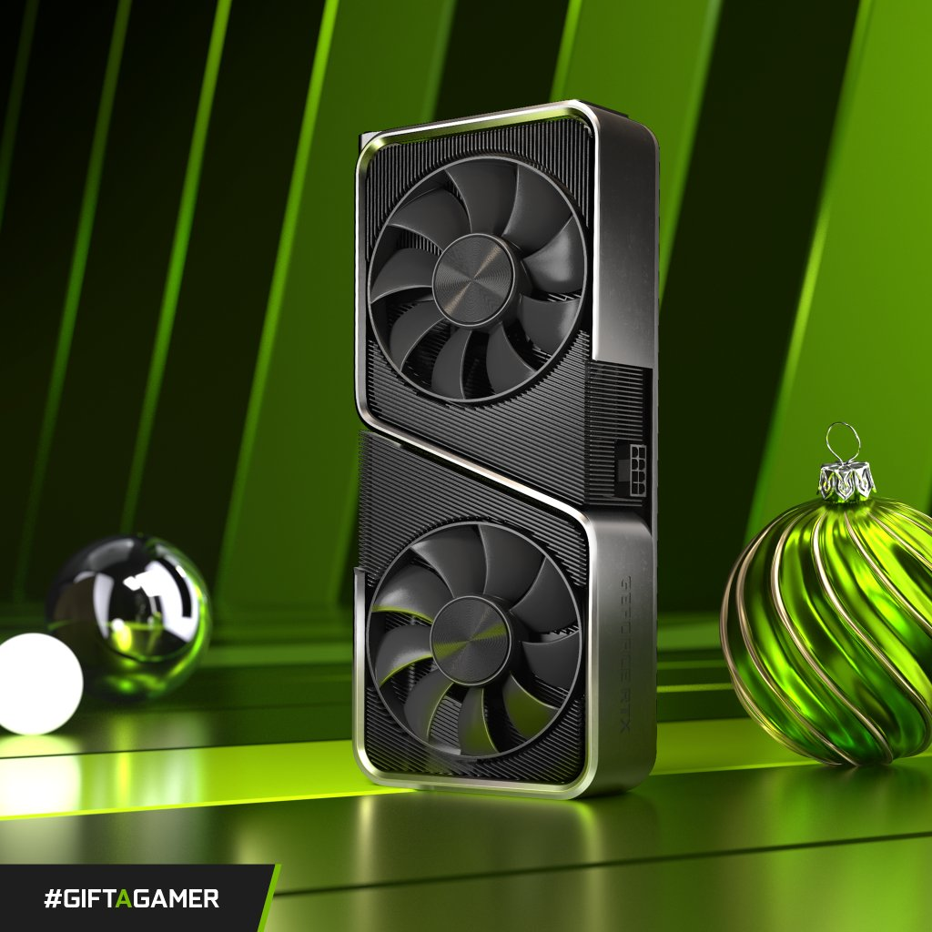 Our #GiftAGamer Holiday Contest continues! 🌟💚🎁  Here's how to spread the love this week:  1. RT this photo. 2. Tell us about the person you trust the most to recommend new games (and tag them!) with #GiftAGamer 3. If selected, you + the friend you tagged BOTH win an RTX 3070!