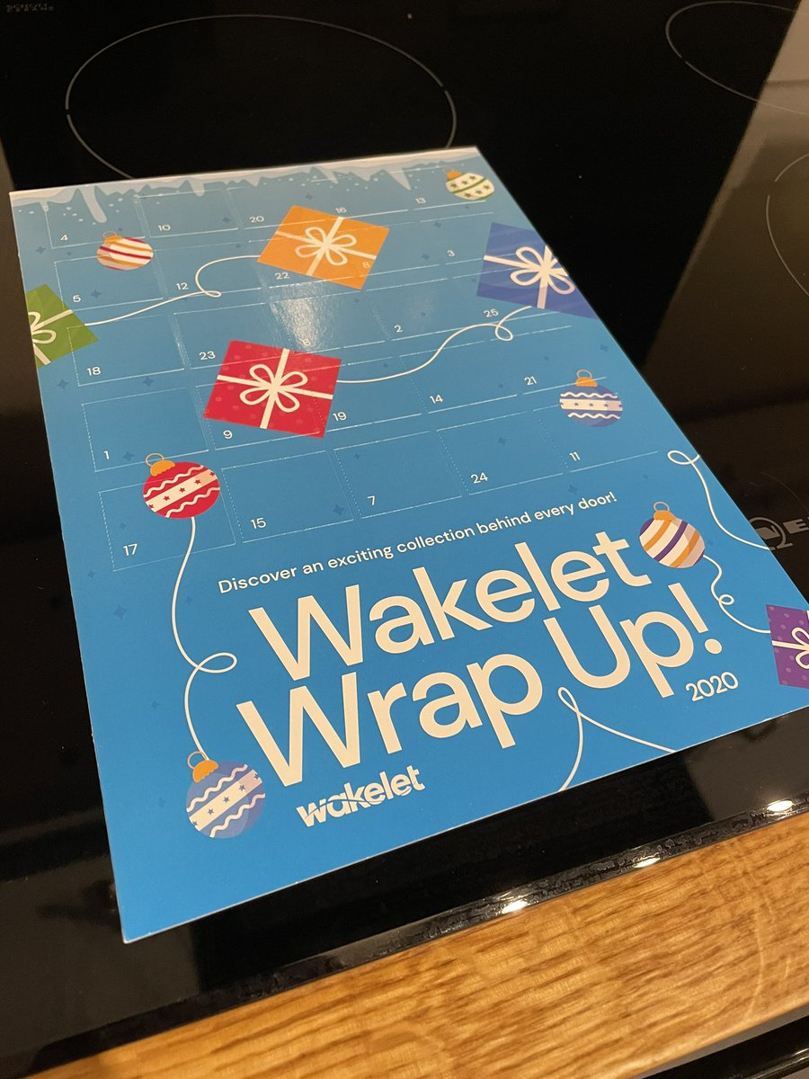 Thank you @wakelet for my advent calendar. Not long to open it!! #wakeletwave
