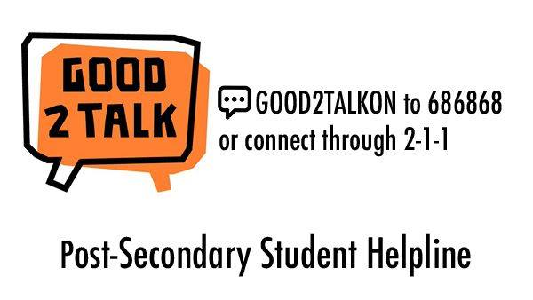 Are you an Ontario post-secondary student experiencing #stress, #anxiety or #loneliness due to COVID-19 😷? Text the free, confidential, 24/7 #Good2Talk service to get support with any challenge you're facing: text GOOD2TALKON to 686868 @KidsHelpPhone @ConnexOntario @211Ontario https://t.co/iIpkWcOmoO