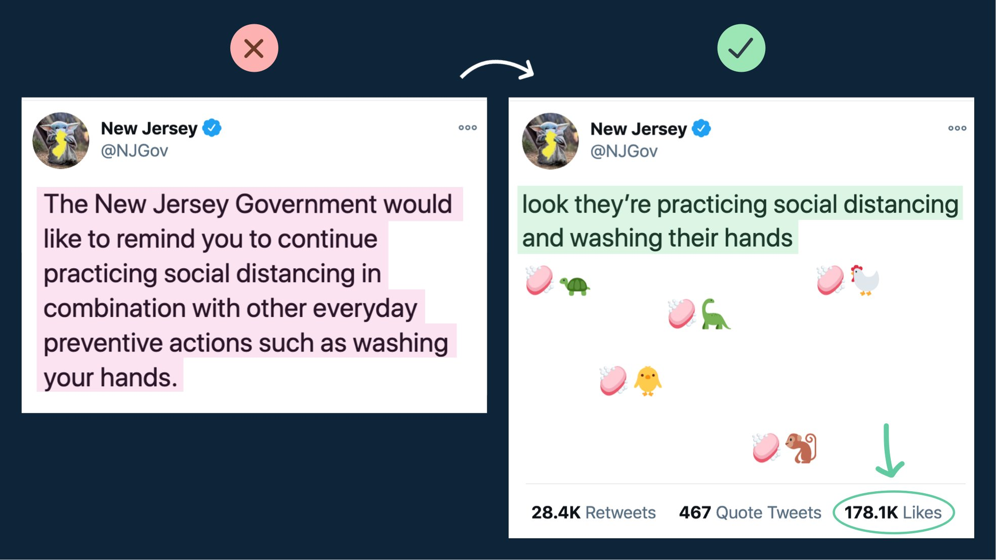 Photo of a tweet from NJGov