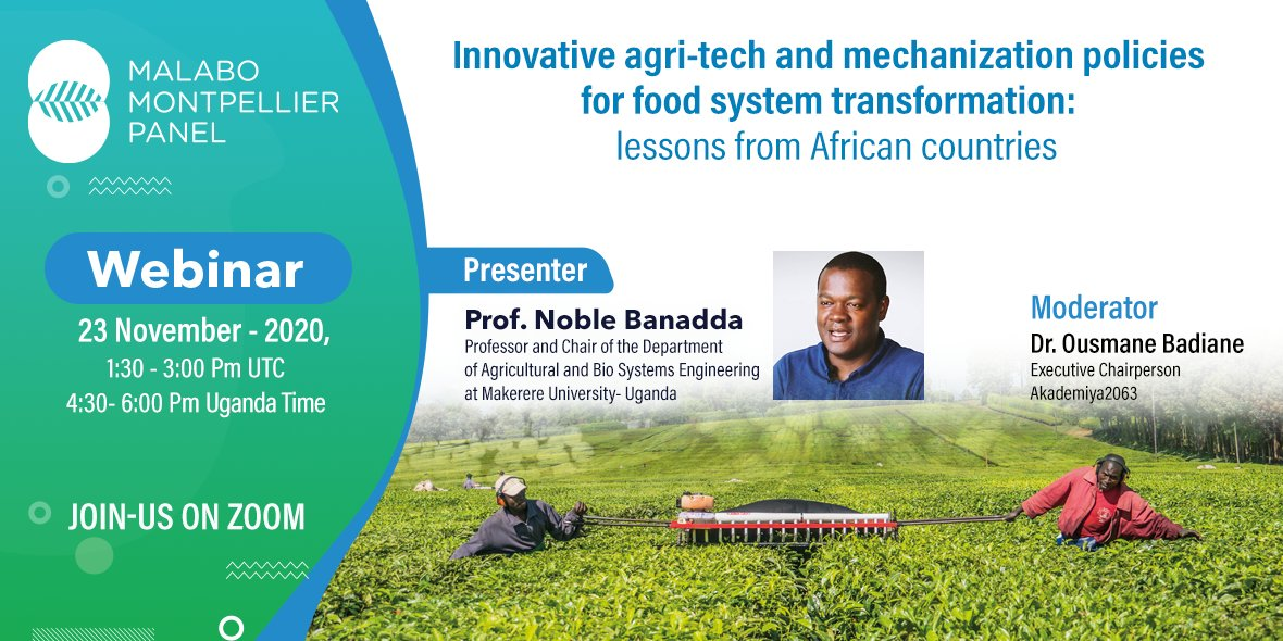 "test Twitter Media - 1- #MaMoWebinar Findings    ""Innovative agri-tech  mechanization policies for food system transformation: lessons from African countries""  Prof. Noble Banadda has presented successful actions by leading Countries👇 https://t.co/9xVRcywvq2"