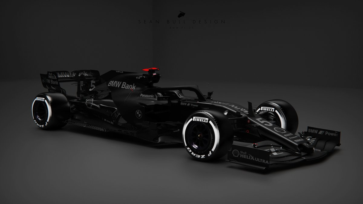 2021 BMW F1 Testing Livery concept  matte, metallic and gloss blackout elements for a unique testing look inspired by the world of fashion in a reverse of yesterdays concept  3D Model by @Racesimstudio #BMW #F1 #F12020 #Formula1 #LiveryDesign https://t.co/rPJhctGbxW