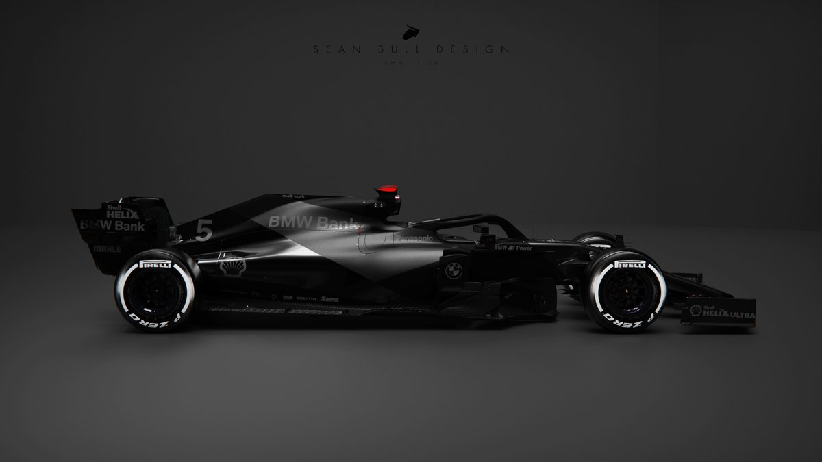 black on black on black.  design is all in the material differences  #BMW #F1 #F12020 #Formula1 #LiveryDesign https://t.co/HyeqyPf45e