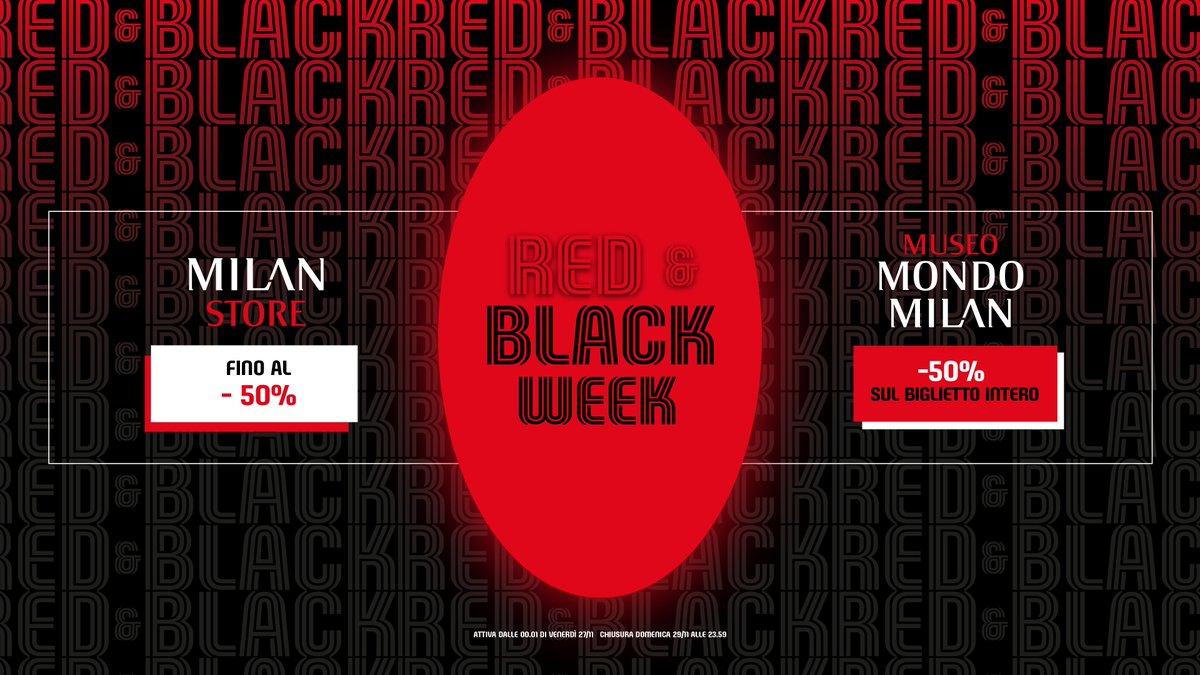 Si apre la Red&Black Week: una settimana di sconti fino al 50% e offerte speciali su . E da venerdì 27 a domenica 29 il biglietto per il Museo Mondo Milan sarà a metà prezzo e valido per 12 mesi! 🔴⚫  Scopri di più 👉