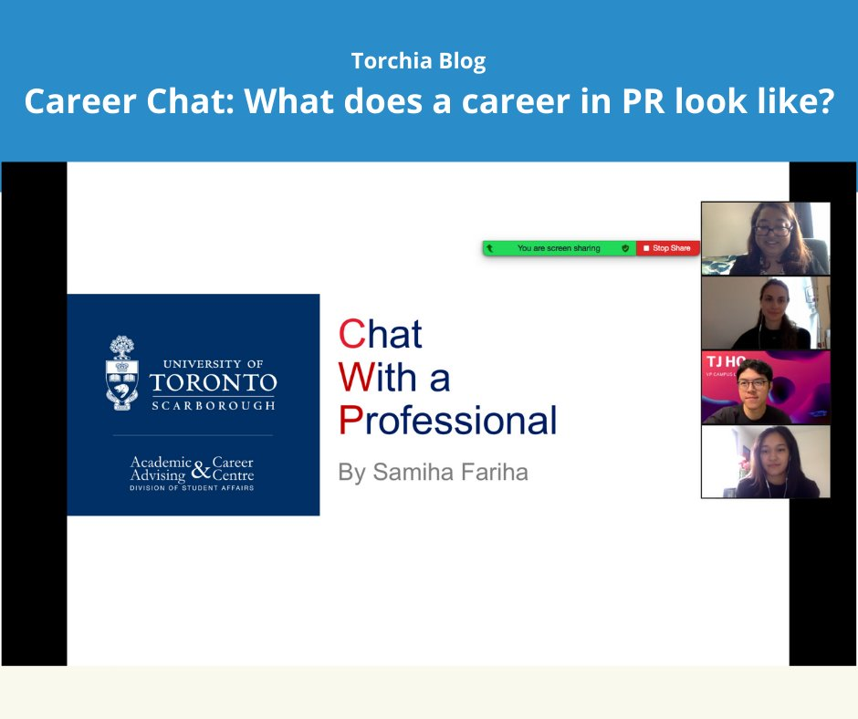 On October 22, Samiha was invited by @UTSCAACC from @UTSC to speak to students about her career and education as part of the school's #ChatWithAProfessional session.Dive into some of her insights at ourblog,.  #PR #Comms #UTSC #UofT