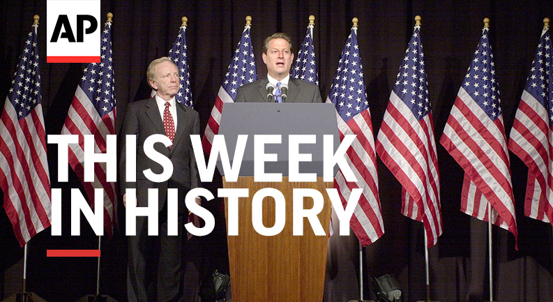 #ThisWeekInHistory: Pres. John F. Kennedy was laid to rest at Arlington National Cemetery (11/25/1963); Al Gore laid out his case for letting the courts settle the nation's long-count election (11/27/2000).