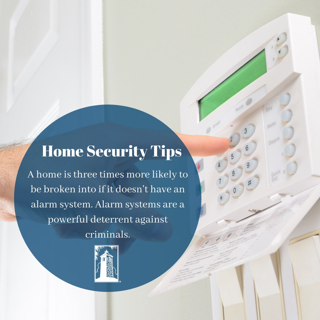 A home is three times more likely to be broken into if it doesn't have an alarm system. https://t.co/EiiIZtM1Tb