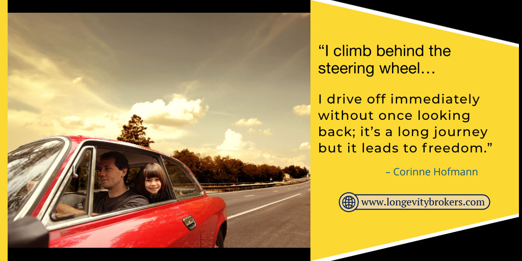 "test Twitter Media - ""I climb behind the steering wheel… I drive off immediately without once looking back; it's a long journey but it leads to freedom."" – Corinne Hofmann - Call: (720) 209-4598 - Longevity Insurance Brokers Colorado - https://t.co/pYFDjq0BYu . . #mondaymotivation #mondaymood https://t.co/x8RUwWJfUu"