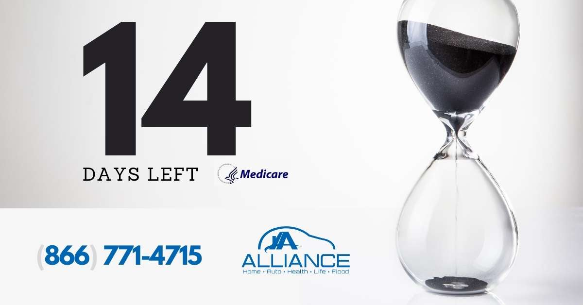 2 weeks left ⌛ to enroll in your #Medicare Insurance plan during #OpenEnrollment  Get a quote: 866-771-4715  #AllianceInsurance