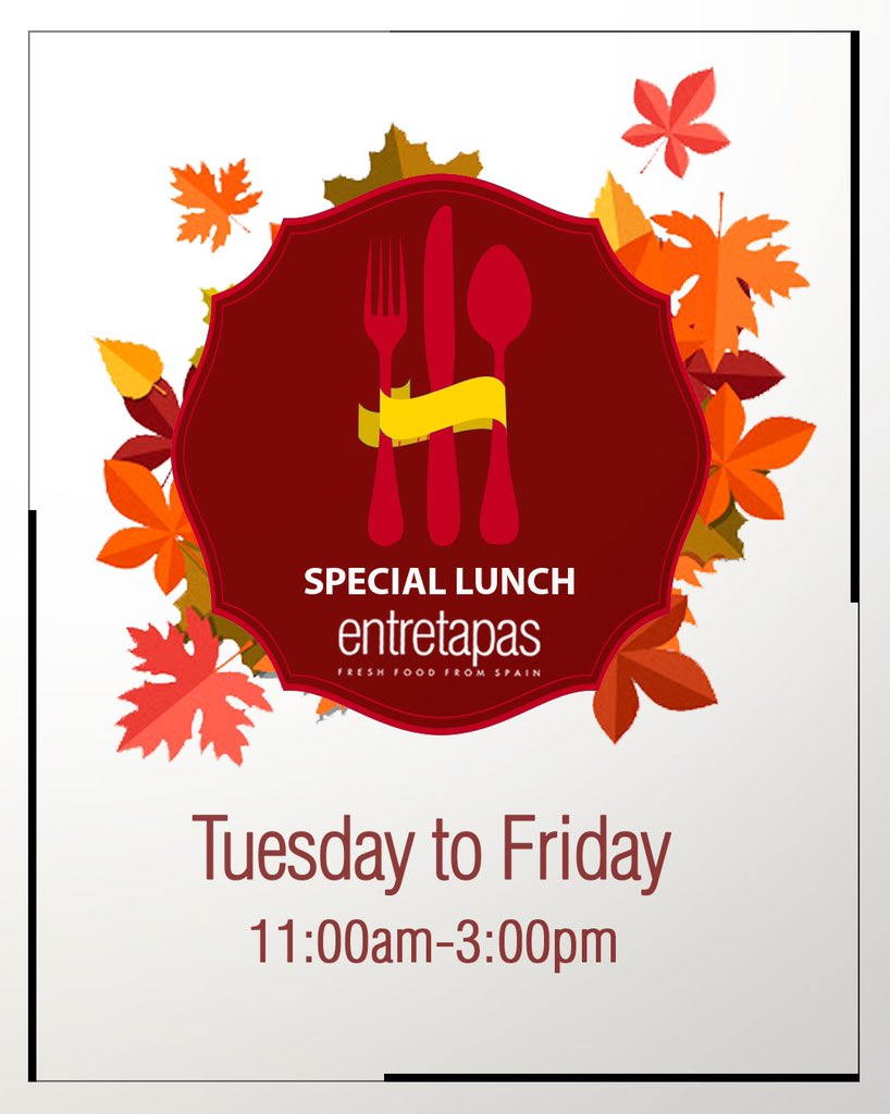 Remember that we offer you a special lunch every day from Tuesday to Friday between 11:00am to 3:00pm!  #weston #davie #florida #lunch #foodie #foodblogger #floridafood #spanishfood   https://t.co/ucltZJDlR1