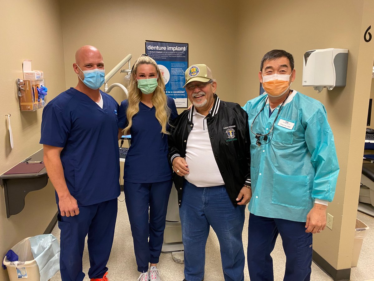 We're so thankful for U.S. Air Force Veteran Gilberto Romero & the @DentureServices Schertz, TX team for providing a special gift to Gilberto -- the gift of free dental care on Veterans Day. Read more about #VeteransDay2020 across our supported network: