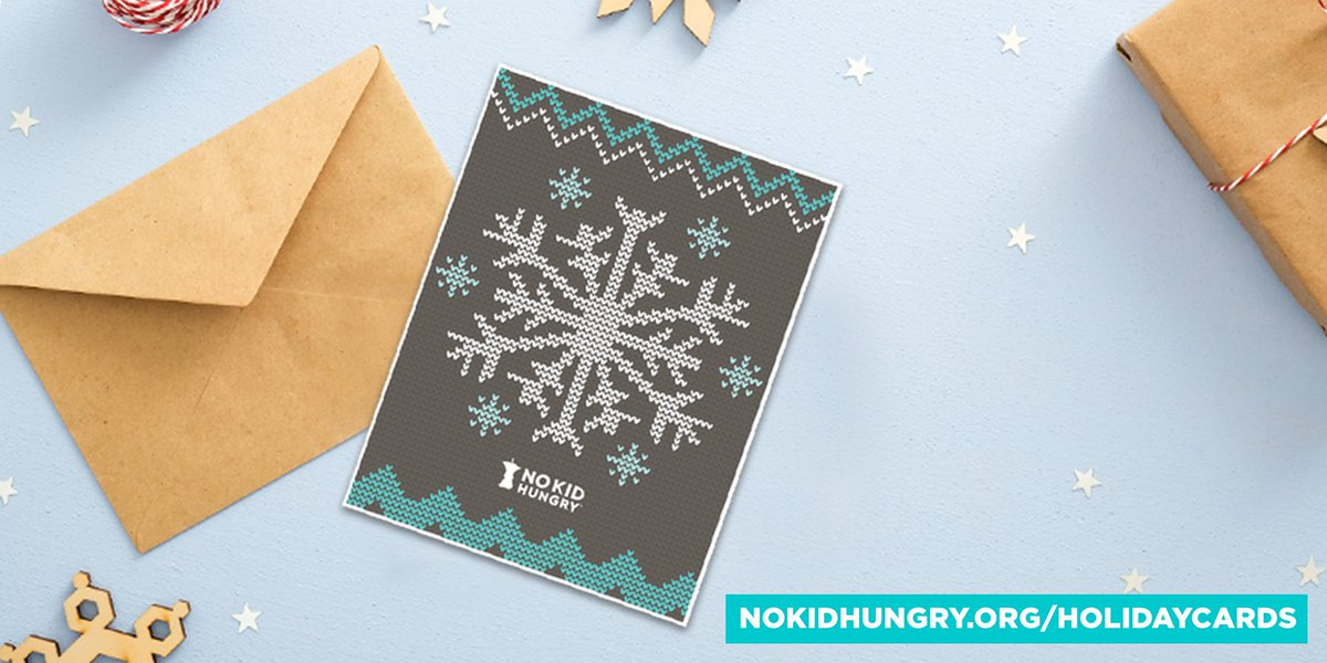 Reach out to friends and family with @nokidhungry holiday cards and let them know you're helping feed hungry kids this holiday season.