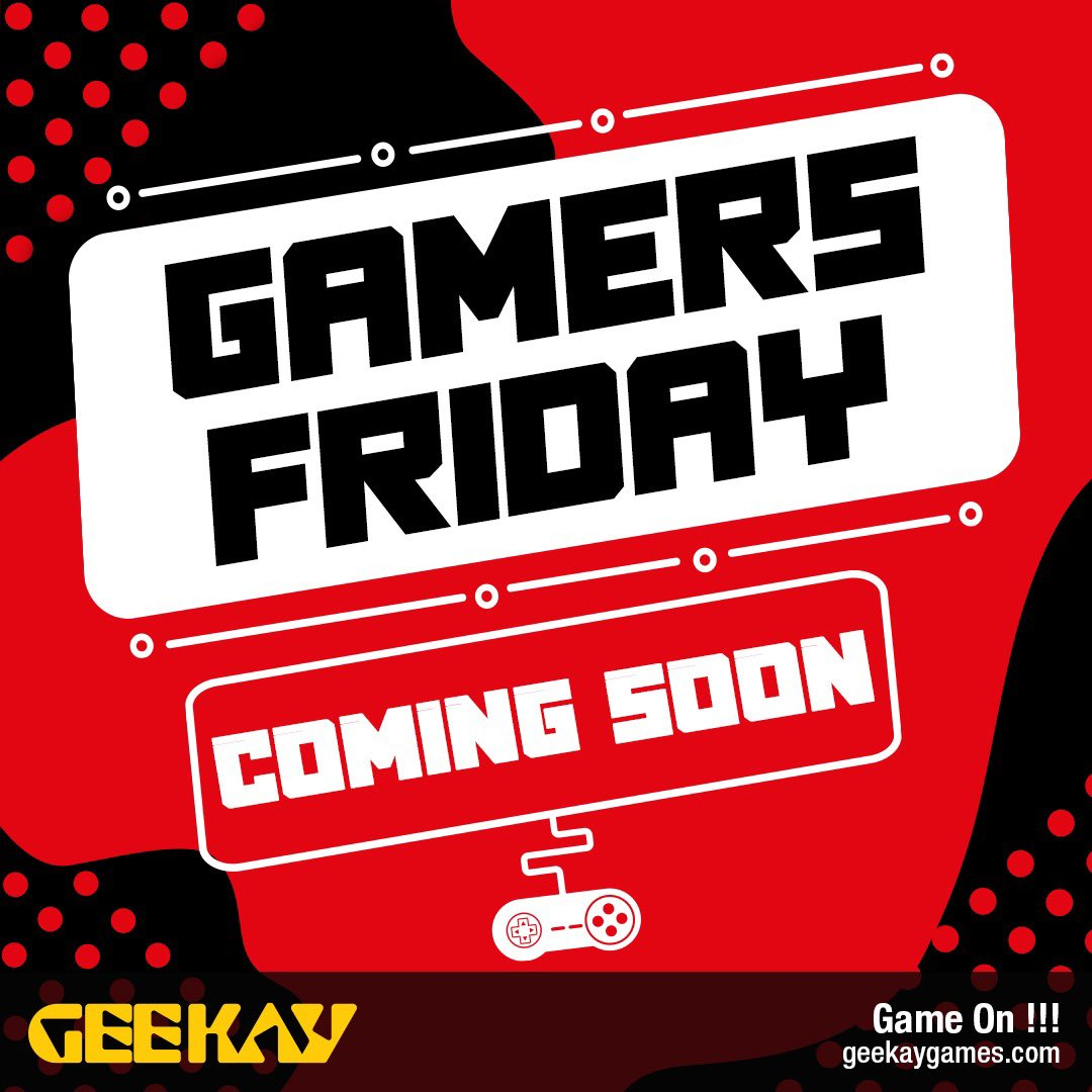 #GamersFriday deals coming soon stay tuned @Geekay_games https://t.co/s1I5vHX21m