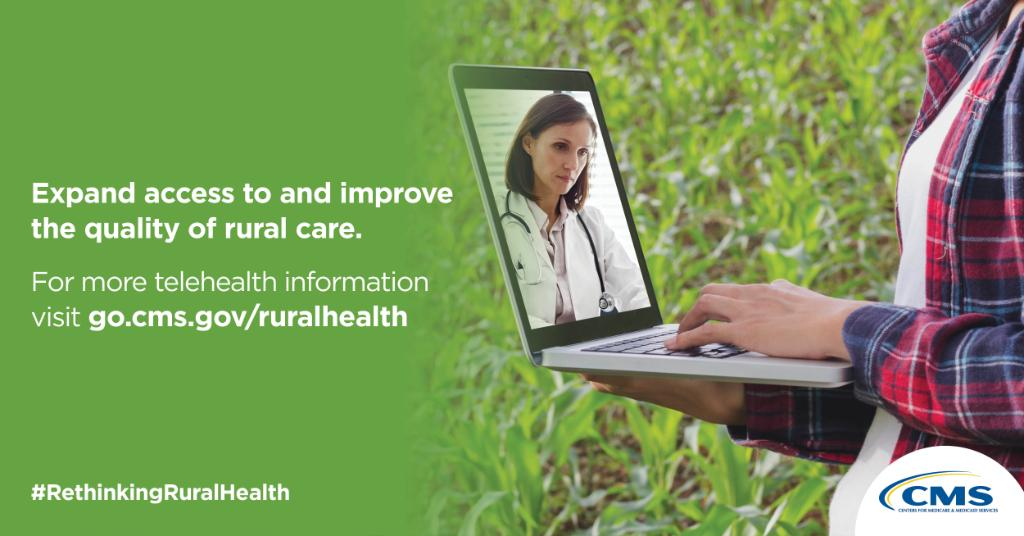 Many rural areas still lack the internet access needed to use telehealth services. Check out how CMS is looking to advance telehealth in #rural communities:   #PowerofRural