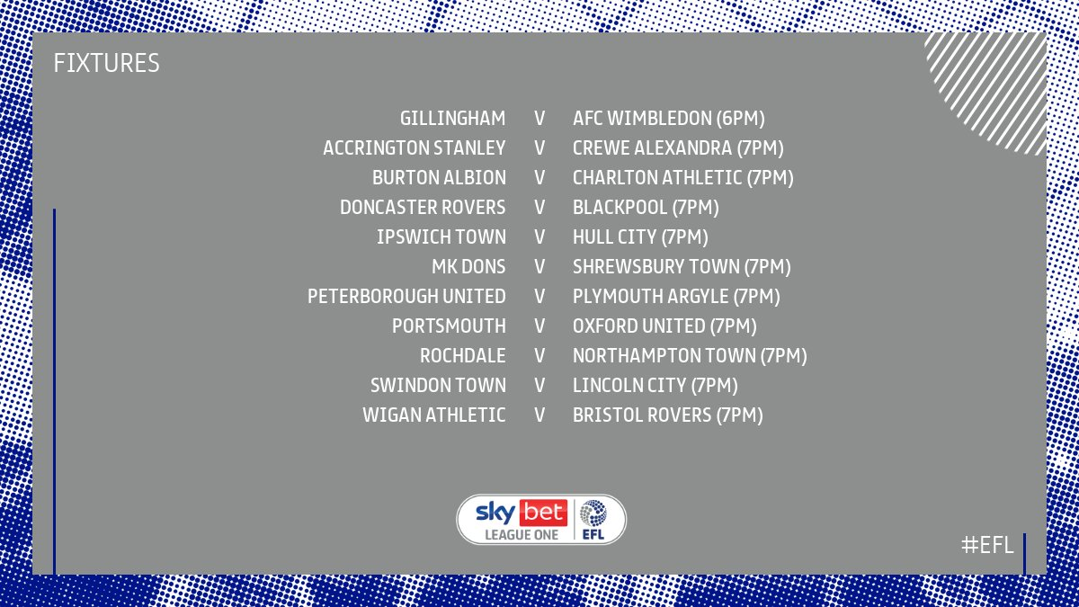 Image for the Tweet beginning: Tonight's EFL action!  Watch it 𝙇𝙄𝙑𝙀: