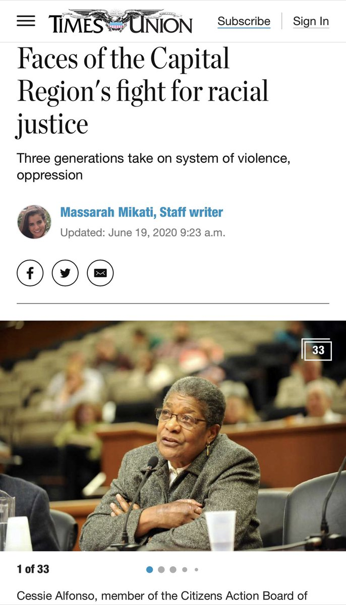 The @timesunion interviewed three generations of activists in the fight for racial justice. timesunion.com/news/article/T… @TheBarbaraSmith #DrAliceGreen