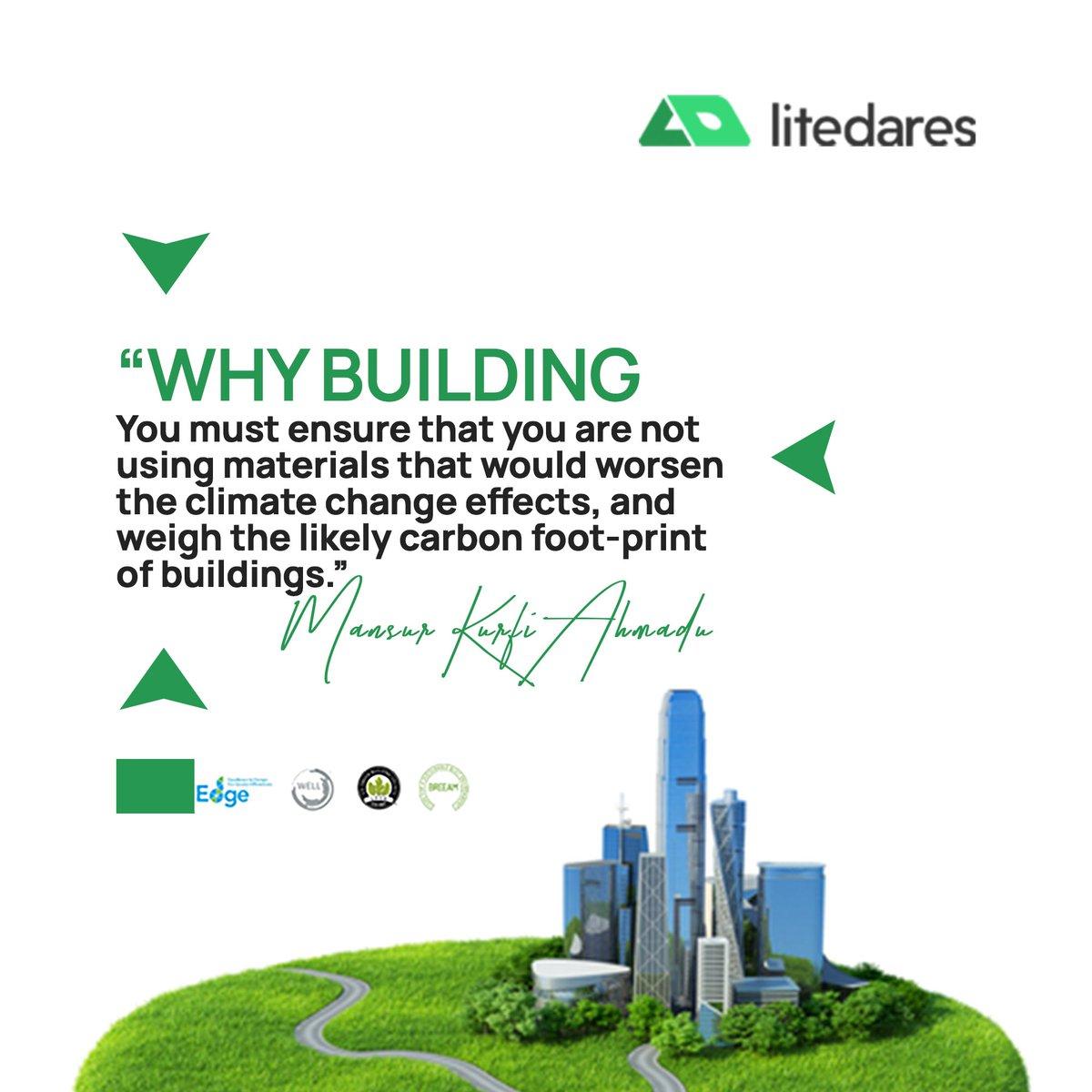 A very powerful statement from the immediate past president, Association of  Architects of Nigeria (ACANigeria).  #greenindiachallenge #greenbuilding #21Universities #AhmadAhmad #Zamfara #Apple #TREM #Oluwanengi #fifa #climatechange #Atiku #Sustainability #ClimateAction